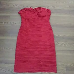 Strappless Red Dress Size Large